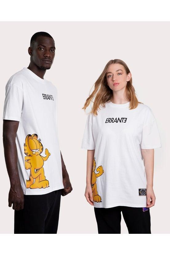 Polera M/C Garfield Slant Blanco Errante