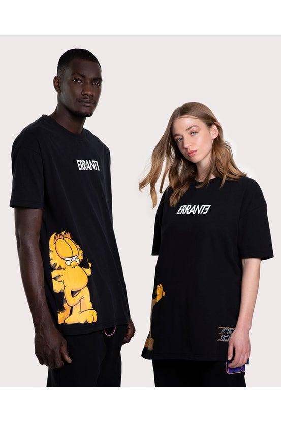 Polera M/C Garfield Slant Negro Errante
