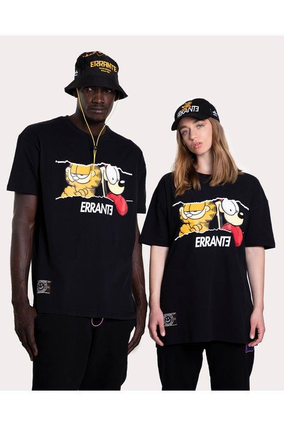 Polera M/C Garfield Couple Negro Errante