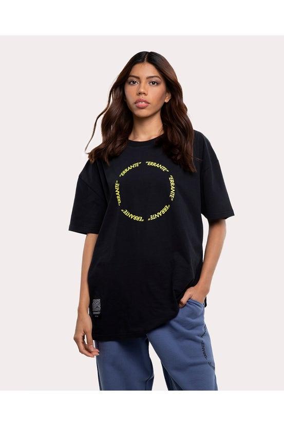 Polera M/C Circle Negro Unisex Errante