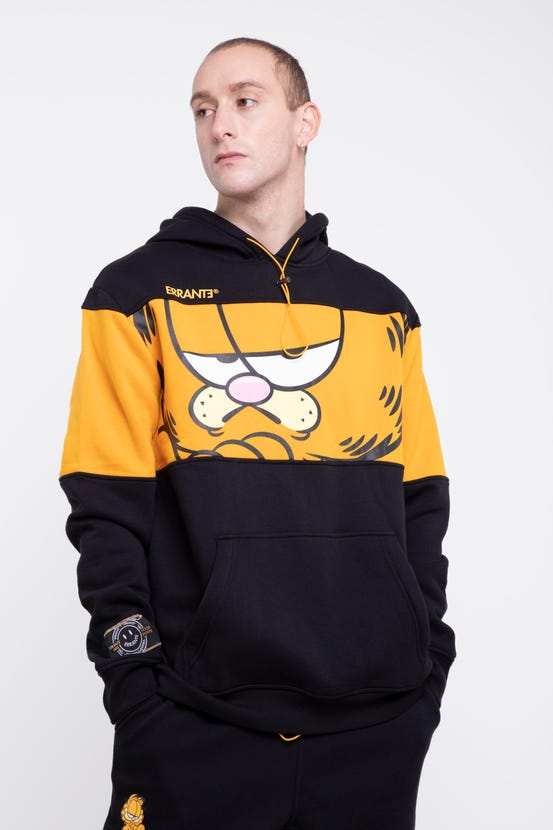 Poleron Garfield Hood Blocky Negro Errante