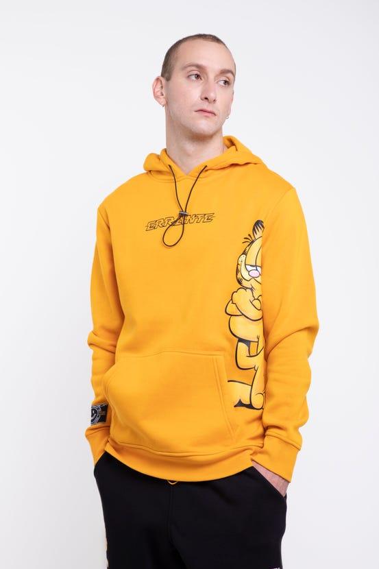 Poleron Garfield Hood Really Amarillo Errante Unisex