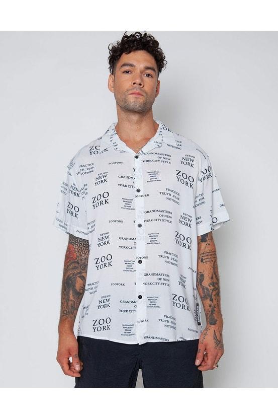Camisa M/C Bone Blanco Zoo York