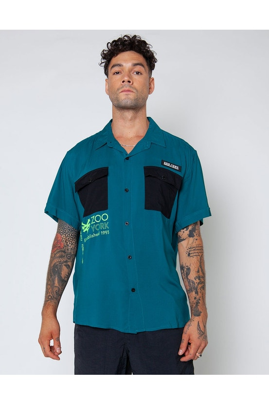 Camisa M/C Frame Azul Zoo York